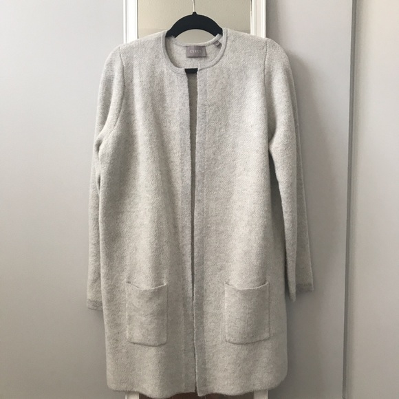 Cyrus long grey cardigan